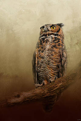 Great Horned Owl At Shiloh Poster by Jai Johnson