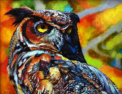 Great Horned Owl Poster by Kelly McNeil