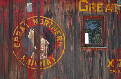 Great Northern Railway Old Boxcar Poster by Bruce Gourley