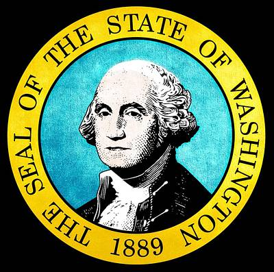 Great Seal Of The State Of Washington Poster by D Benbenn
