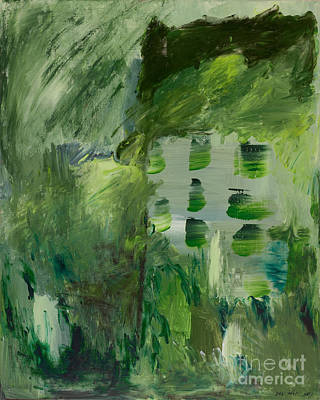 Green Abstract Poster by Noa Yerushalmi
