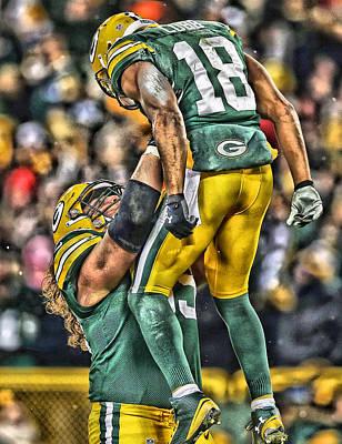 Green Bay Packers Team Art Poster by Joe Hamilton