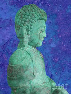 Green Buddha Poster by Tony Craddock