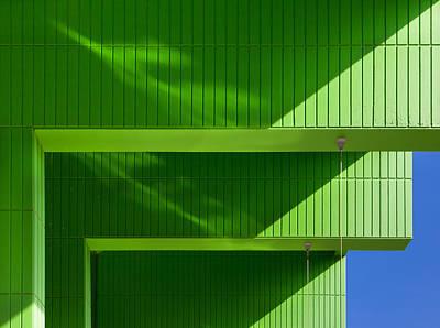 Green Poster by Jeroen Van De Wiel