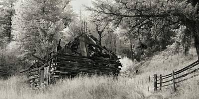 Green Mountain Cabin Poster by Bill Kellett