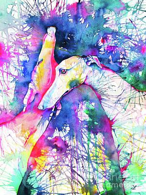 Greyhound Trance Poster by Zaira Dzhaubaeva