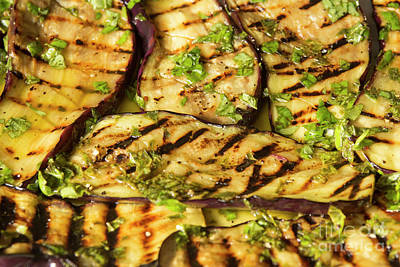 Grilled Eggplant With Dressing Poster by Patricia Hofmeester