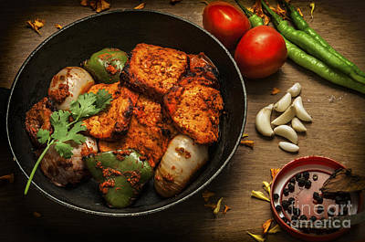 Grilled Paneer Tikka Poster by Charuhas Images