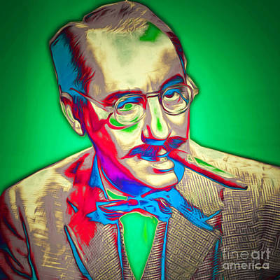 Groucho Marx 20151218 Square Poster by Wingsdomain Art and Photography
