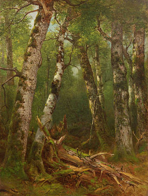 Group Of Trees Poster by Asher Brown Durand