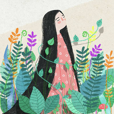 Grow With Nature Poster by Carolina Parada