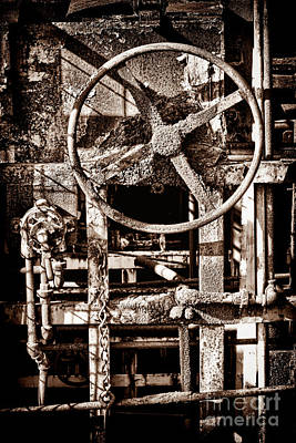 Grunge Machinery Poster by Olivier Le Queinec