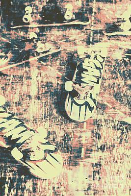 Grunge Skateboard Poster Art Poster by Jorgo Photography - Wall Art Gallery