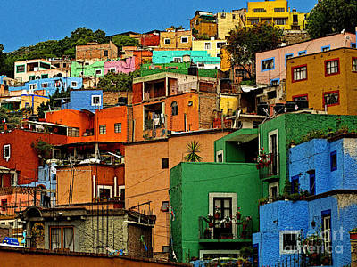 Guanajuato Hillside 1 Poster by Mexicolors Art Photography