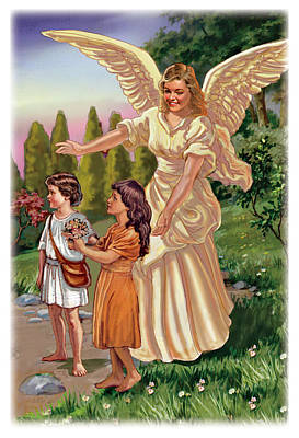Guardian Angel Poster by Valer Ian