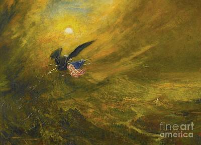 Guardian Of American Liberty Poster by Celestial Images