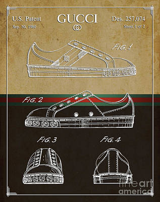 Gucci Shoe Patent 2 Poster by Nishanth Gopinathan