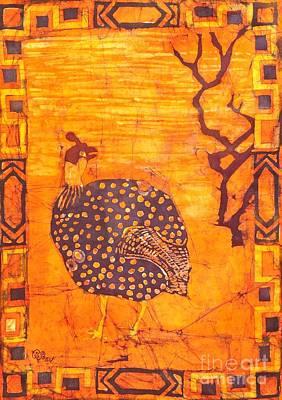 Guinea Fowl Poster by Caroline Street