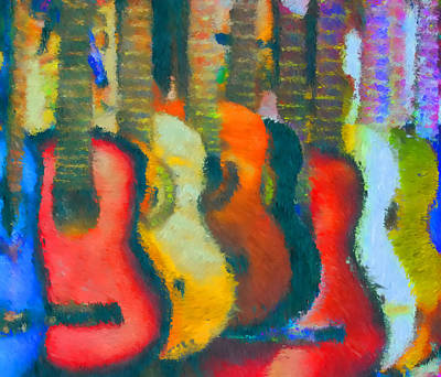 Guitar Abstract Poster by Mike OBrien