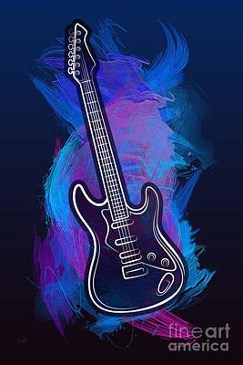 Guitar Craze Poster by Bedros Awak