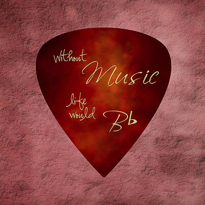 Guitar Pick - Without Music Poster by Tom Mc Nemar