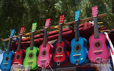 Guitars In Old Town San Diego Poster by Anna Lisa Yoder