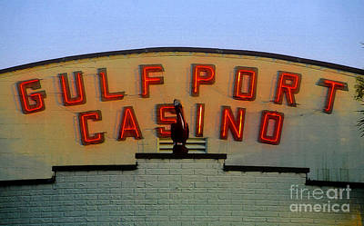 Gulfport Casino Poster by David Lee Thompson