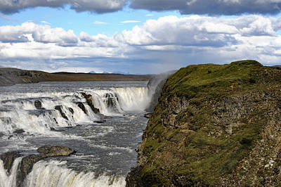 Gullfoss Waterfall Iceland V Poster by Marianne Campolongo