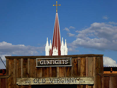 Old Virginia City Gunfights - Western Art Poster by Art America Online Gallery