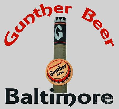 Gunther Beer Baltimore Poster by Jost Houk