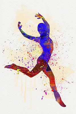 Gymnast Poster by Elena Kosvincheva