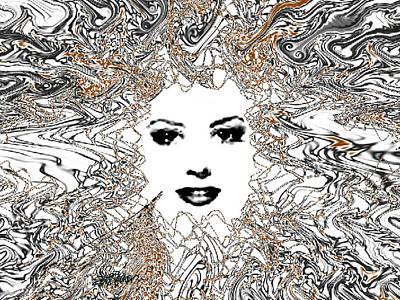 Hair Thair And Everywhair Mara Poster by Seth Weaver