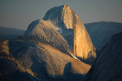 Half Dome At Sunset - Yosemite Poster by Stephen  Vecchiotti