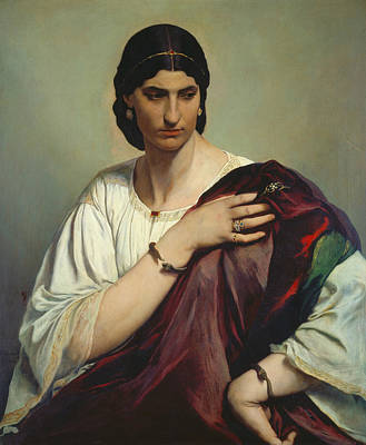Half-length Portrait Of A Roman Woman Poster by Anselm Feuerbach