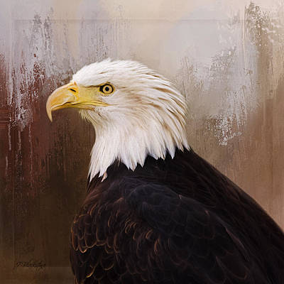 Hallmark Of Courage - Eagle Art Poster by Jordan Blackstone