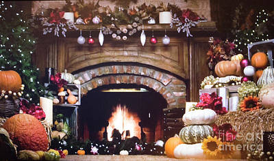 Hallmark Thanksgiving Display Poster by Linda Phelps