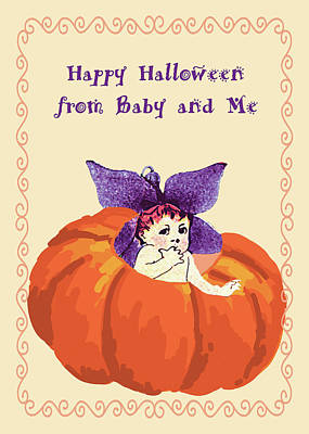 Halloween Baby And Me Poster by Rosalie Scanlon