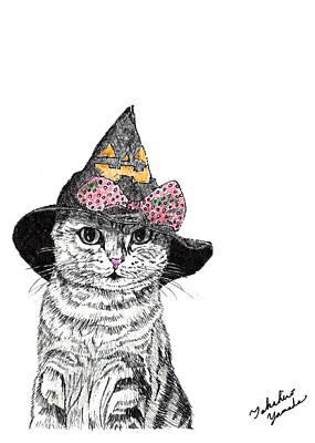 Halloween Cat Poster by Takahiro Yamada