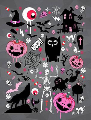 Halloween Night  Poster by Mark Ashkenazi