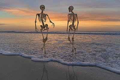 Halloween Stroll Poster by Betsy C Knapp
