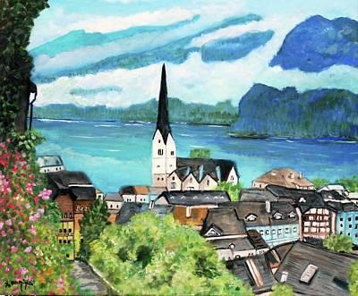 Hallstatt In Upper Austria  Poster by Teresa Dominici