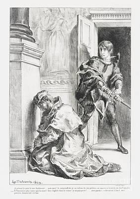 Hamlet Tente De Tuer  Poster by Eugene Delacroix