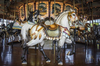 Hampton Carousel Poster by Williams-Cairns Photography LLC
