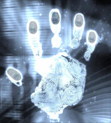 Handprint Forensics Poster by Pasieka