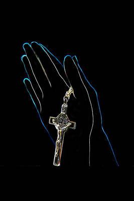 Hands In Prayer Poster by Art Spectrum