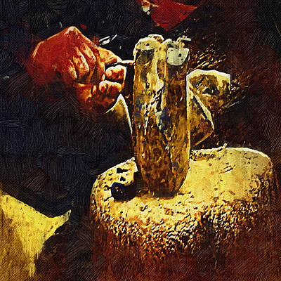 Hands Of An Artist - Gothic Oil Poster by Dale Stillman