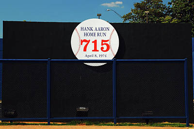 Hank Aaron Record Home Run Poster by James Kirkikis