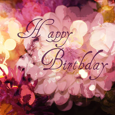 Happy Birthday Poster by Cathie Tyler