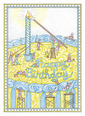 Birthday Card Poster by Lynn Schreiber