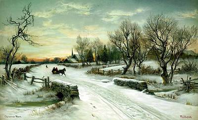 Poster featuring the painting Happy Holidays by Travel Pics